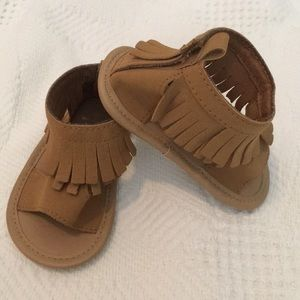 Baby Girl  Brown Fringe Sandals 12-18 Months